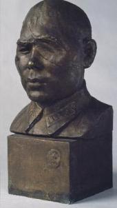В.И. МУХИНА ПОРТРЕТ ПОЛКОВНИКА Б.А. ЮСУПОВА. 1942