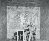 ЖИВОПИСНЫЙ СЮЖЕТ ИЗ ЦИКЛА «ЧЕРНОЕ И БЕЛОЕ ПРОСТРАНСТВО». 1972–1975