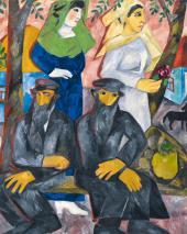 Евреи (Шабат). 1911. Фрагмент