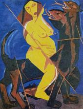 Дева на звере. Из цикла «Жатва». 1911