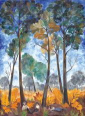 Осенний пейзаж. Отдых в лесу. Вторая половина 1910-х – начало 1920-х