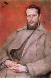 Сергей Малютин. Портрет Н.Д. Виноградова. 1919