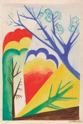 Н.С. Гончарова. Пейзаж. Весна 1926–1927