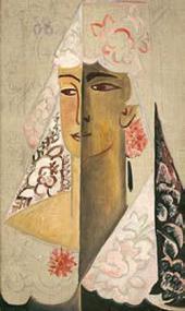 Н.С. Гончарова. Голова испанки. 1918–1922