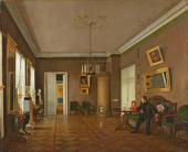 Прокофий Пушкарев. В комнатах. 1840–1850-е