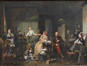 Давид Блес. Бедность и богатство (Домашняя жизнь семейства Х. Берникса). 1848