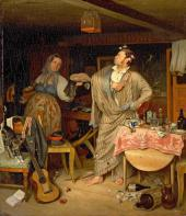 Павел Федотов. Свежий кавалер. Утро чиновника, получившего первый крестик. 1846
