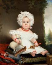 Ян Круземан. Портрет К.Э. Ренте-Линсен в детстве. 1831