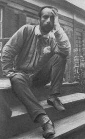 И.И. Левитан на крыльце дома Ларионовых в деревне Городок