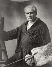 П.Д. Корин в мастерской. 1962.