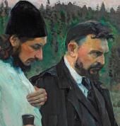 Философы (Портрет П. А. Флоренского и С. Н. Булгакова). Фрагмент