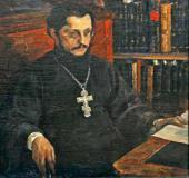 Тяжелые думы. Портрет священника С.Н. Дурылина . 1926