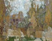 Душное Кащеево царство Эскиз декорации балета И.Ф. Стравинского «Жар-Птица».1910