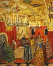 Грановитая палата. Эскиз декорации к опере М.П. Мусоргского «Борис Годунов»