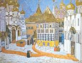 Площадь в Кремле. Эскиз декорации к опере М.П. Мусоргского «Борис Годунов»