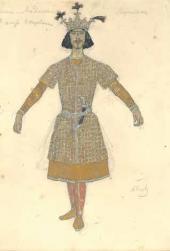 А.Я. Головин. Эскиз мужского костюма для танца «Лезгинка»