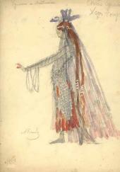 А.Я. Головин, Г.Л. Теляковская. Эскиз женского костюма