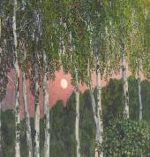 А.Я. Головин. Березы ночью. 1908–1910