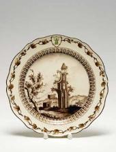 Тарелка мелкая Предмет из «Сервиза с зеленой лягушкой» Англия. Фирма Веджвуд