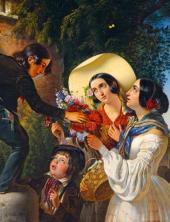 Итальянская сцена (Букет для Мадонны). 1841