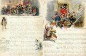Сценки римского карнавала и автопортрет М. Скотти в карнавальном костюме. 1843