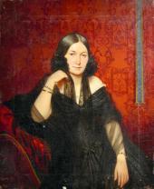 Портрет неизвестной в черном платье (Е.А. Карлгоф?). 1842