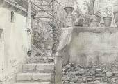 Улица в Риме (Via Ponte Pinciano). 1843