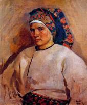 Автопортрет в украинском костюме. 1946