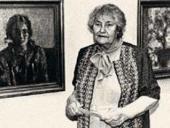 Т.Н. Яблонская на открытии выставки, посвященной 80-летию со дня рождения. 1997
