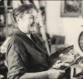 Т.Н. Яблонская за работой. 1980-е