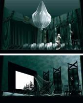 А.В. Орлов. Эскизы декораций к пьесе А.П. Чехова «Вишневый сад». 2012