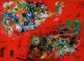 Ю.С. Устинов. Эскиз декорации к балету И.Ф. Стравинского «Жар-птица». 2002