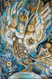 М.В. Федорова. Эскиз фрагмента театрально-концертного занавеса «Птица счастья»