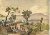М.Ю. Лермонтов Вид Бештау близ Железноводска. 1837