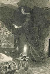 М.А. Врубель Демон. Иллюстрация к поэме М.Ю. Лермонтова «Демон». Эскиз.