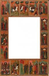Сказани е о чудесах иконы Богоматери Феодоровской. Рама-икона. XIX век