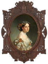 И.К. Макаров. Портрет неизвестной. 1860