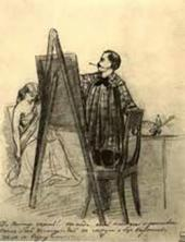 П.А. Федотов. В мастерской художника. 1848–1849