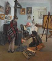 И.М. Прянишников. В мастерской художника. 1890
