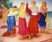 К.С. Петров-Водкин. Девушки на Волге. 1915