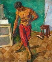 П.П. Кончаловский. Полотер. 1946