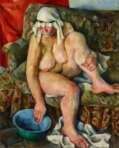 А.А. Осмёркин. Об нажённая (натурщица С. Осипович). 1922