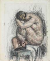И.И. Машков. Сидящая натурщица. Вторая половина 1910-х