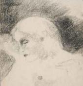 В.Н. Чекрыгин Обнаженная женщина в профиль. 1922