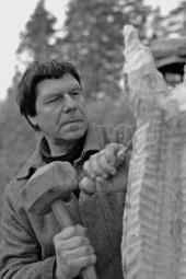 Скульптор за работой. 1970-е