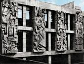 В. Лемпорт, Н. Силис. Оформление внутреннего дворика библиотеки Ашхабад.
