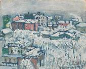 В.В. Кандинский. Зимний день. Смоленский бульвар. Ок. 1916