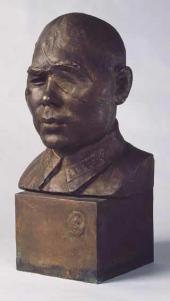 В.И. МУХИНА. Портрет полковника Б.А. Юсупова. 1942