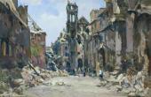 П.Н. КРЫЛОВ. Здание гестапо. 1945