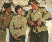 Н.Я. Бут. Боевые друзья. 1969